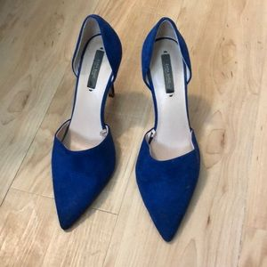 Zara Blue Pointed Toe Pumps 8